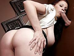 Gianna Michaels looks a little stressed and needs to relieve some of it by confessing her sins. She finds the gloryhole hidden behind the screen. Licking her lips she peers through, it gets even hotter than before. Gianna slowly unbuttons her top and squeezes her nipple through the hole, then sucks on the finger that pokes her in the face. When the finger is replaced by a big boner, she opens wider and takes it all the way into her mouth. She wraps her big jugs around the shaft and lets it slide up and down between her mounds. She doesn't miss a drop when her cheeks are filled with white cream.