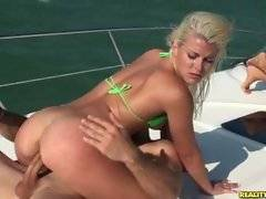 Shaye gets fucked on the upper deck of the stabbin boat.