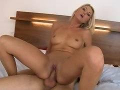 Susan rides a big cock.
