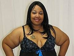 Fallon Fierce is the perfect BBW for those of you that like the absolute largest ladies in porn. There are folds all over the place on this ebony sex goddess, and she is showing off a rather awesomely massive pair of tits. And when she bends over to show off her ass, well you know that you\'re going to get a hell of a boner from that. If you only ever watch one bbw porn scene, you need to make it this one. Just look at Ray Black, this dude is loving every damn second he gets when he\'s pounding this huge babe.