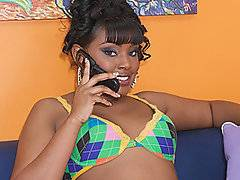 Lailonni Ballixxx has a great body, and happens to be a new black pornstar - there is always a need for more hot black babes to fill out the pornstar ranks, so I\'m happy to see her here. She is not only going to get her freak on with Prince Yashua, she is also going to let him pump her pussy full of his man spunk. Now that makes her hornier than ever, and she is pounding away at his cock to make sure that he leaves a big enough internal creampie. She wants to feel it dripping right out of her sweet snatch.