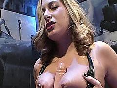 Jane Kelly is nearly insatiable and needs cock 24 hours a day. She could never find a man that could fully satisfy her. Today she got a chance to fuck a machine built just for her. She let the machine run the dildo between her tits until she was nice and turned on then she laid back and let it go down inside her ready and wet pussy. It drilled her like she was a coal mine and made her cum twice then she switched it up, got on all fours and let it take her hard from behind. It fucked her without mercy, sending her over the edge more than once and drilling her like she had always wanted. Finally she was satisfied.