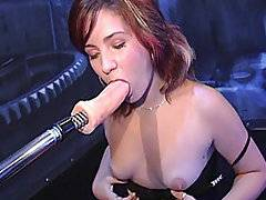 Stone cold Desirae can stare anyone, anything, down.  But when she locks eyes with FM1000, she\'s instantly intimidated. She likes to fuck when she\'s nervous, so she spreads her pussy lips wide and gets her shit shredded by our banging bot.