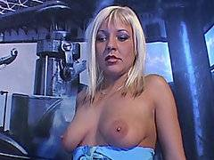 Young and sexy Sherrie needed a good face fucking, not to mention a thorough vaginal piping.  So she rides the FM1000 like a Harley into the sunset in this sensual scene.