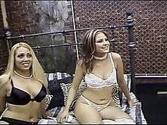 This video is just further proof that if you show a nice white girl a hung black stud, they\'ll go crazy with jungle fever!  Black pimp Brian Pumper turns up at the studio, looking like he is dressed to kill, when he sees lingerie clad sluts Austin O\'Riley and Elizabeth Del Mar relaxing on the bed.  These beautiful bitches, both dressed in stockings and suspenders, both assume the doggy style position when they see their master, offering up their holes for his complete ownership.  He bangs both of these sluts hard, relishing hammering them in the ass, whipping his filthy cock out of one girl\'s butt and ramming it into the other girl\'s mouth.