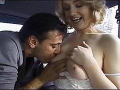 Falco Zito and his buddy were driving around when they came across a girl Falco knew named Jessica Sweet. She was walking home from work and got in the van to get out of the cold. They talked her into doing some quick nude modeling then she started fingering her pussy. Falco jumped in and stated licking her pussy then he pulled his cock out and she gave him a wet blowjob. Before she knew what was happening they were fucking right there in the van. She rode his cock then let him splash his load all over pretty face. Once they had both came they dove her home. That is how you give a chick a ride!