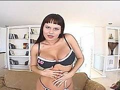 Busty brunette amateur Kami Andrews teams up with star Falco Zito for some hardcore ass fucking action in this erotic anal clip.  Kami is eager to try out some anal experimentation, so she enlists Falco to be her ass fucker, whom she knows is an experienced sodomiser.  Kami is a little nervous about getting her poor butthole stretched out, so she tries to warm up by anally masturbating with a dildo.  However, Falco\'s prick is much, much larger than her sex toys, and she still squeals like a stuck pig as Falco eases his dong into Kami\'s tight rear end.  Kami takes an anal pumping in multiple positions, including doggy style and riding anally.