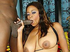 Tasha is a dirty MILF, and she loves taking a black penis deep inside her pussy.  She reveals her huge tits that she uses to titty fuck Byron\'s long rod while sucking him off.  She works his dick hard until he lays her down and throws her legs open, getting her ready to take his thick dick.  He pounds this horny girl from behind, shoving his hard dick inside of her nice and fast.  He pounds this chick until her pussy begins to shake and sends his cock over the edge until he busts a nut all over her tits.