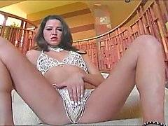 Kelli is one gorgeous MILF who still has a smokin\' hot body, some voluptuous lips, and perky little titties. She disrobed and played with her sweet pussy on the couch for awhile until she was given a big cock to play with. She immediately shoved it in her mouth and sucked up and down. Kelli knows how to give a real blowjob, by choking and gagging herself on it. After she gets a throat poking, he rams his dick inside her doggy style. He bangs that sweet wet pussy of hers and slaps her ass while he does so as it turns completely red. Kelli\'s fuck hole is rammed hard until she\'s on her knees to get frosted like a cake.