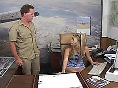Ciera Sage is your typical naughty secretary, although she is missing the glasses. She does have on the super short skirt though, along with the sexual attitude that will make you want to just whip your dick out and whack it along with her. Andrew Andretti catches her in the office, and he starts grabbing at her tits. It takes her a bit to get warmed up, but soon enough she is fucking not only him, but Trevor Slide and Sergio. Don\'t let it be said that this chick can\'t go all out when she\'s in the mood for it.