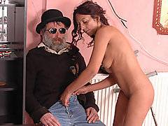 This is one of the most unusual sex scenes that I\'ve ever watched, and it\'s not because of the niche, which is handicap porn. David Ib starts the scene off by playing the violin, and even after Olya Keresztes starts to suck his dick. It\'s one of the weirdest things that I\'ve ever seen, and I\'ve seen a lot of weird shit in porn. In fact this is probably up there with the most unusual pornos ever, and it\'s that hot by being that fucking weird along with the fact that you don\'t really see handicapped people in porn all that often.