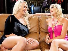 Shawna Lenee licks Sadie Swede\\\'s tight pussy in these video clips