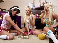 Alexis Texas spin the bottle sleepover party with Pornstar Tory Lane and Kayden