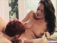 This brunette was always wondering how it feels to have sex with another woman. Now she knows that it`s awesome.