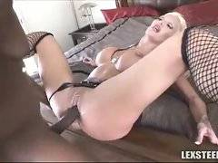 Enormous cock from which blonde go crazy