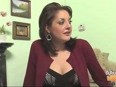 Mature brunette is going to teach her son good behaviour.