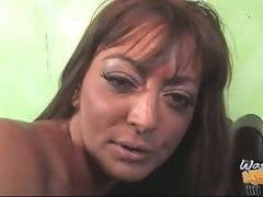 Big black cock nails her old pussy hard and deep