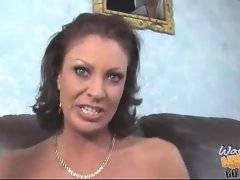 Nasty mature chick spreads her legs on her son`s eyes.