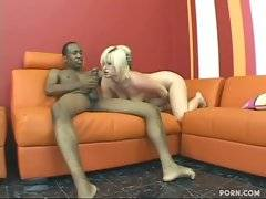 Black brotha slams his massive eager dick into wet pink pussy.