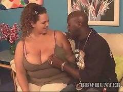 This busty BBW is ready to fuck black guy for money.