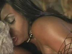 Two gorgeous ebony girls pleasure horny silver daddy.