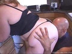 Horny dude licks slut`s wet fat love hole and plants his dick inside it.