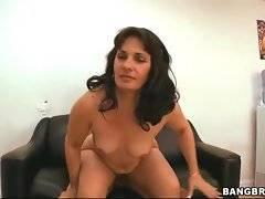 Dude with big cock is fucking that brunett wet cunt