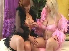 Two sexy grannies want to get lots of pleasure