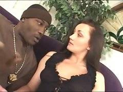 Craving black brotha is going to drill this sexy brunette.