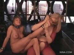 Frisky Nina knows how to satisfy her bitch