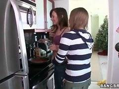 Fascinating lesbians wants to have fun in the kitchen