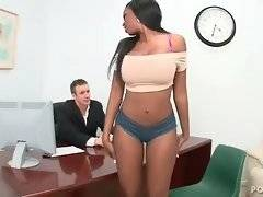 This awesome ebony babe wants to act in music video.