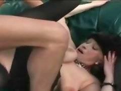 Sluty granny greatly enjoys awesome sex action.