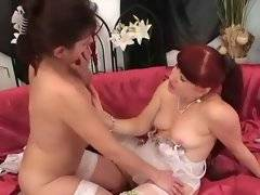 Entrancing bitch is masturbating her twat with dildo