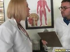 Head physician punishes pretty nurse for disrespect.