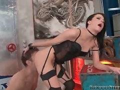 Bastard with big pecker wants to lick her butt