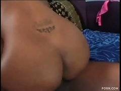 Sluty black mom is already wet enough for taking cock.