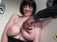 Busty Larkin Love is showing her huge tits