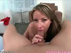 Amateur bitch is licking his big testicles