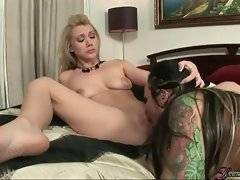 In this hardcore porn video you can see two lesbians
