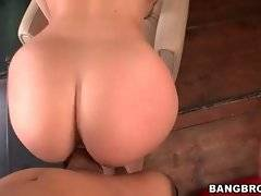 Pretty chick with round booty is fucked hard.