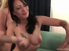 Bitch with appetizing ass is having rough sex