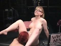Amateur Justine Joli is licking her pussy