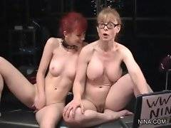 Lovely Nina Hartley is showing to her chick porn video