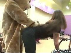 Frisky bitches and their tempting dancing bear