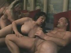 Slutty blonde with huge bobs is having sexual intercourse