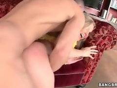 Milf likes to feel hard young dick in her pussy.