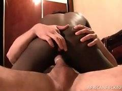 Naughty and horny bitch is riding on his dick