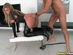 This whore is riding on his phallus in the room