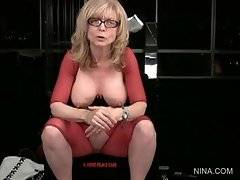 Lovely Nina Hartley is waiting for her doll